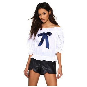 Other The Shoulder Bow Top White
