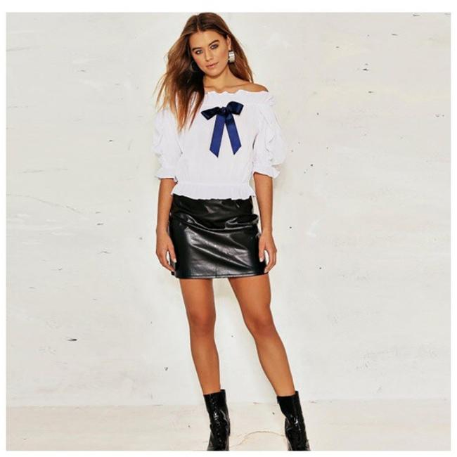 Other The Shoulder Bow Top White Image 1