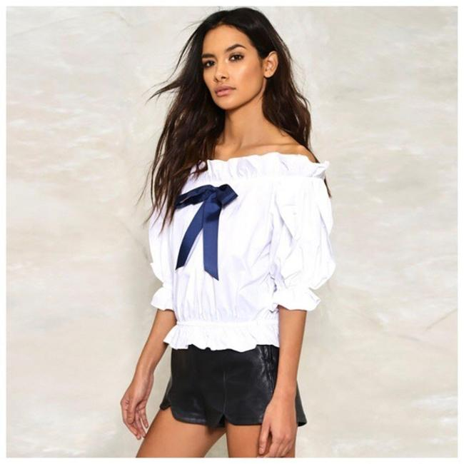 Other The Shoulder Bow Top White Image 2
