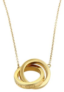 Tiffany & Co. #20248 Tiffany & Co. 1837 Collection 18k Gold Double Ring Pendant