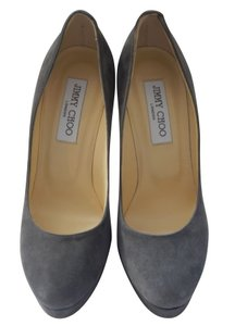 Jimmy Choo #jimmychoo #cosmicpump #suede Grey Pumps