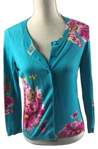 Talbots Button Down Shirt Blue/floral