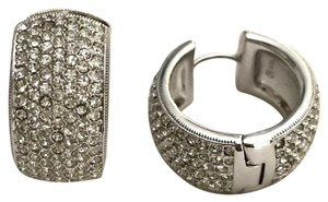 Nadri crystal pave hoop earrings