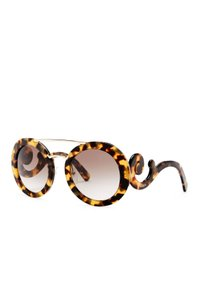 6fcb9e981f355 Prada NEW PRADA ABSOLUTE ORNATE BAROQUE HAVANA ROUND OVERSIZED SUNGLASSES