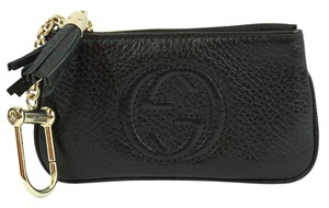 Gucci GUCCI 354358 Soho Leather Key Case Purse, Black