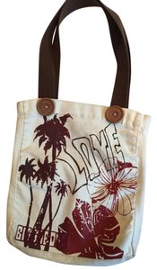 Billabong Tote in White/Brown