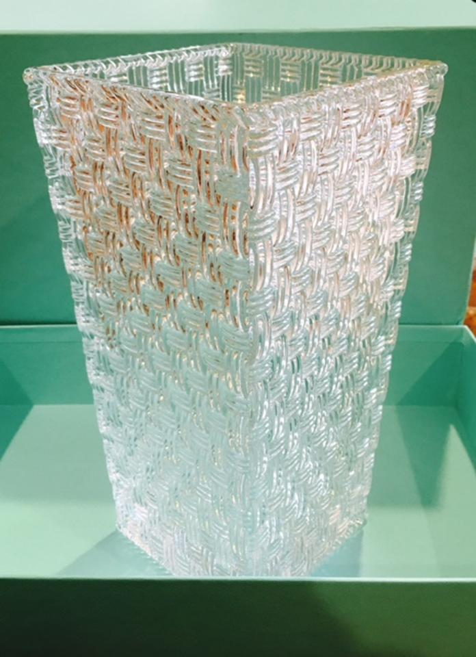 Tiffany Co Crystal Co Woven Trumpet Vase 12 Like Newnever Used