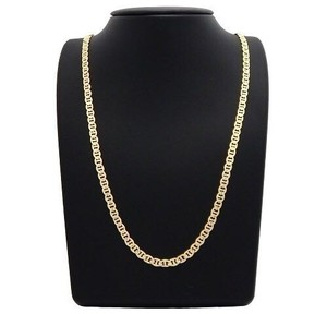 other Men's 14K Solid Gold stamped Mate Finish Gucci Link Chain 24