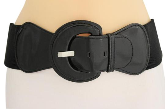 Preload https://img-static.tradesy.com/item/21362067/black-women-fashion-hip-high-waist-stretch-wide-buckle-plus-size-belt-0-1-540-540.jpg