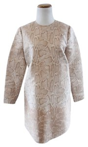 Stella McCartney short dress Beige Pink Python Print Shift Aline Tent on Tradesy