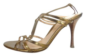 Sergio Rossi Bronze/Gold Sandals