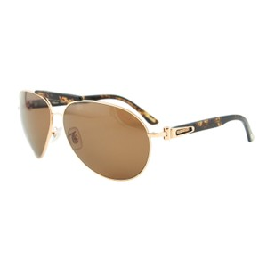 Chopard NEW Chopard SCH A55 Women Havana Brown Polarized Aviator Sunglasses