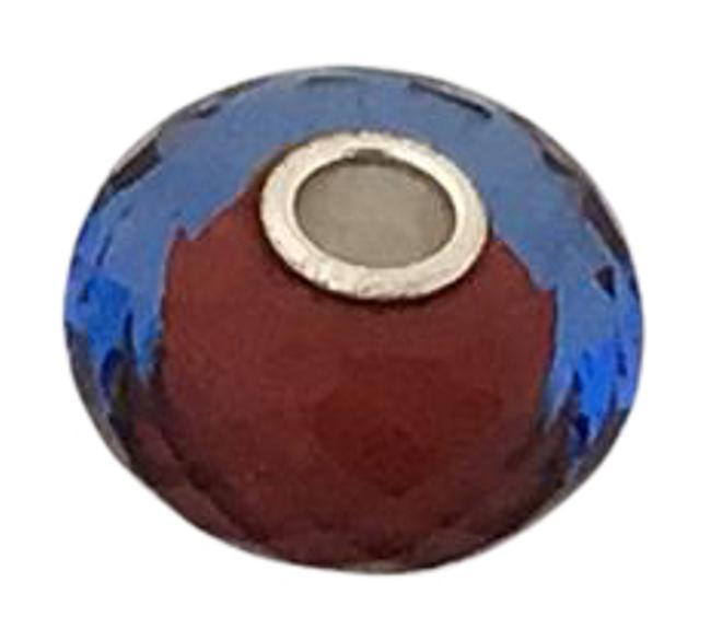 Item - Red Blue Glass Faceted Bead with Core Charm