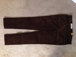 Anthropologie Skinny Pants chestnut brown
