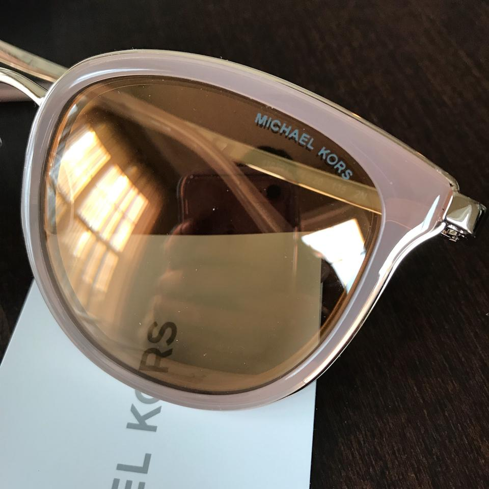 17c6edfc28 Michael Kors NEW Pink   Rose Gold Adriana Sunglasses Image 9. 12345678910