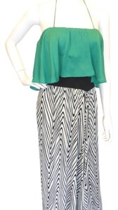 Green w/ Black & White Maxi Dress by T-Bags Los Angeles
