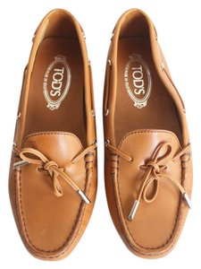 Tod's Drivers Loafer Orange Flats