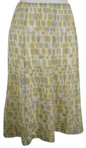 Talbots 100% Silk Gored Panel Skirt Green