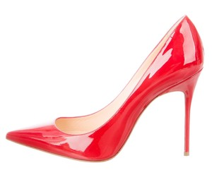 Christian Louboutin So Kate Pigalle Pointed Toe Patent Sole Red Pumps