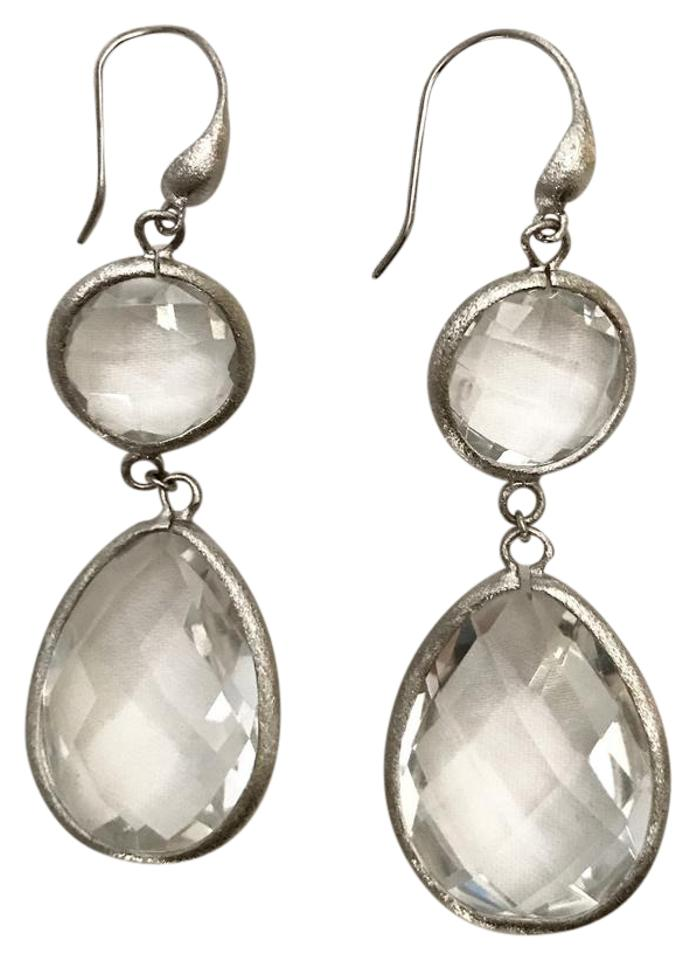 stone lou faceted products precious earrings semi teardrop boutiques
