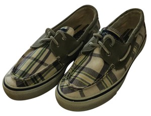 Sperry Green Plaid Athletic