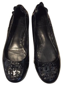 Tory Burch Crocodile Leather Reva Black Flats