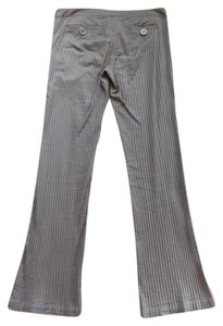 ZINC Stretchy Confy Cute Straight Pants Dark beige/ light brown