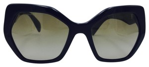 Prada Butterfly Oversized Black Taupe Sunglasses PR 16RS 1AB-1X1