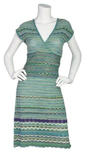 M Missoni short dress Blue, green and purple M Knit Chevron Wrap on Tradesy