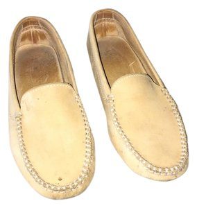 Tod's Pre Owned Conditions Spotted Suede Taupe Flats