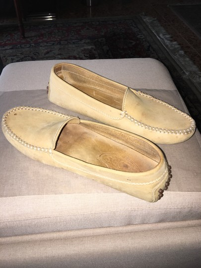 Tod's Pre Owned Conditions Spotted Suede Taupe Flats Image 2
