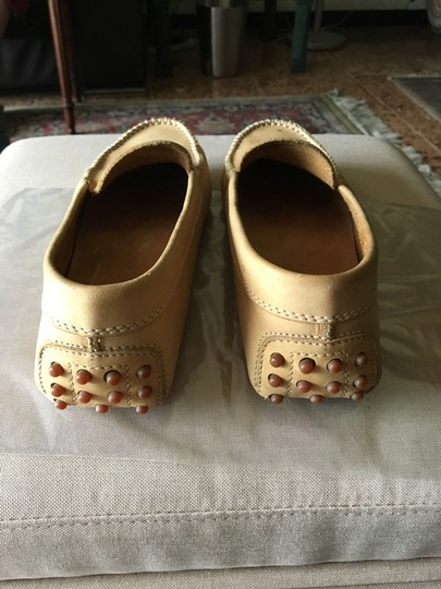 Tod's Pre Owned Conditions Spotted Suede Taupe Flats Image 3