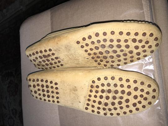 Tod's Pre Owned Conditions Spotted Suede Taupe Flats Image 5