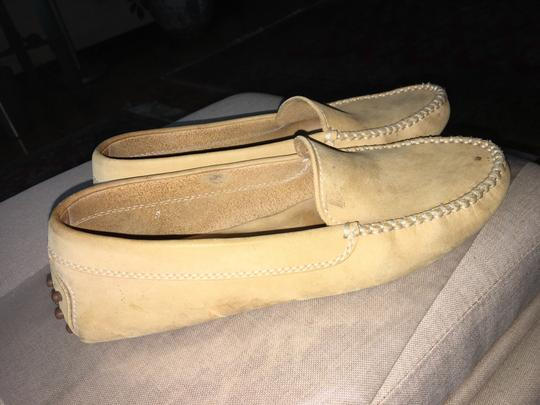 Tod's Pre Owned Conditions Spotted Suede Taupe Flats Image 6