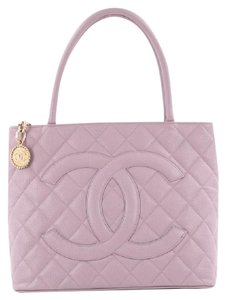 Chanel Leather Tote in Purple