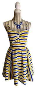 Jack by BB Dakota short dress Yellow, Blue, White on Tradesy