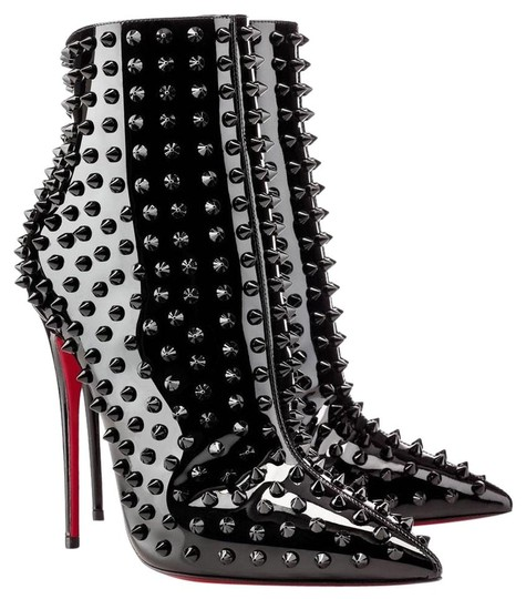 Preload https://img-static.tradesy.com/item/21363455/christian-louboutin-black-new-snakilta-it-patent-spike-ankle-lady-high-heel-toe-red-sole-bootsbootie-0-3-540-540.jpg