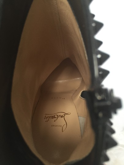 Christian Louboutin High Heels Ankle Snakilta Red Sole Black Boots Image 11