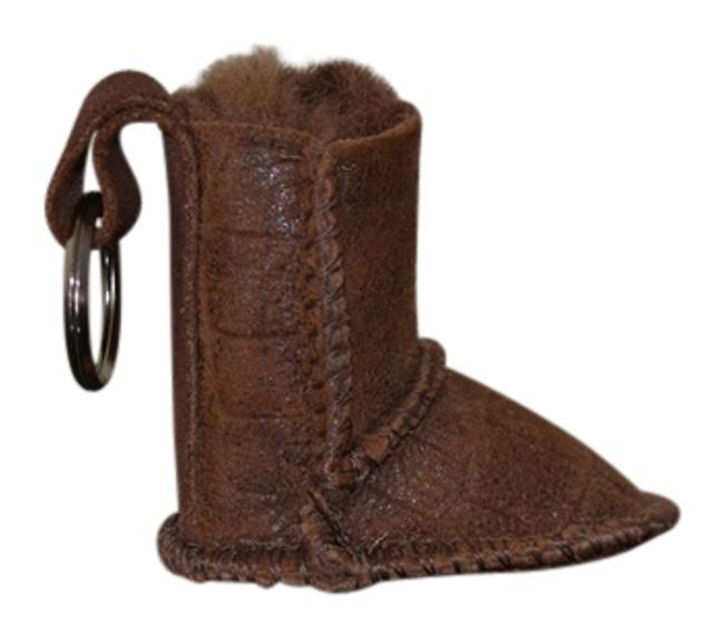 Item - Brown Keychain Boot Tech Accessory
