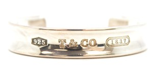 Tiffany & Co. #11868 Signature 1837 narrow silver 925 silver cuff bangle Bracelet