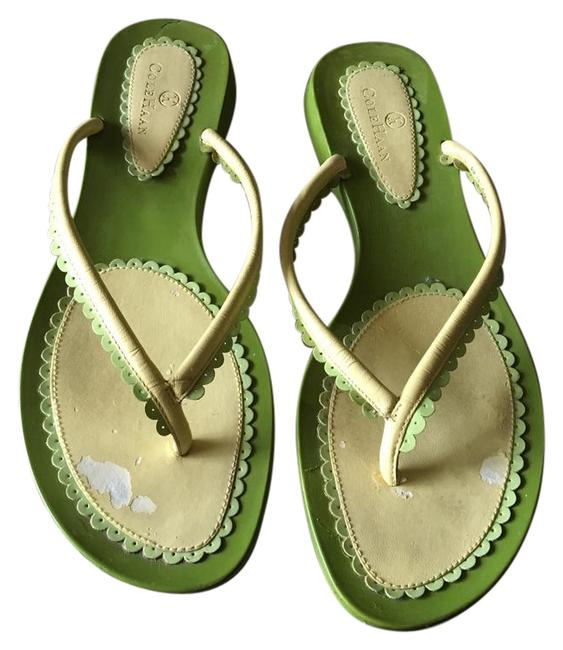 Item - Green / Yellow Sandals Size US 8 Regular (M, B)