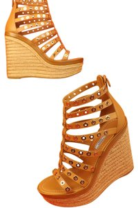 Prada Tan Wedges