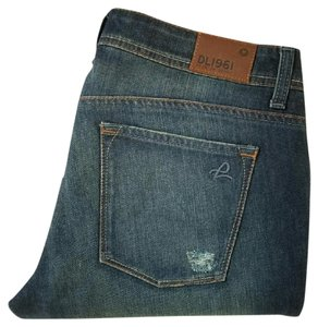 DL1961 Destroyed Milano Boot Cut Jeans-Distressed