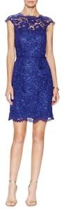 Shoshaana short dress Blue on Tradesy