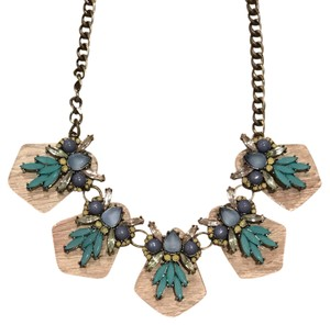 Anthropologie Lucite Jeweled Bauble Necklace