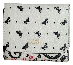 Coach COACH Butterfly SMALL WALLET 59725 Multicolor/White