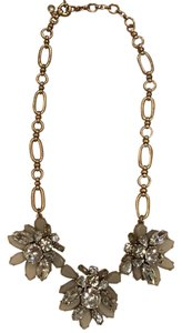 J.Crew Silver Gold Bauble Jeweled Necklace