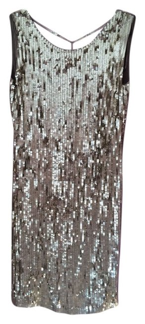 Item - Gold Above Knee Night Out Dress Size 8 (M)