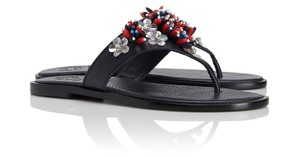 Tory Burch Thong 8 Blue Sandals