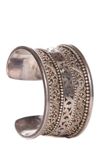 Lois Hill Sterling Silver Textured Cuff Bracelet
